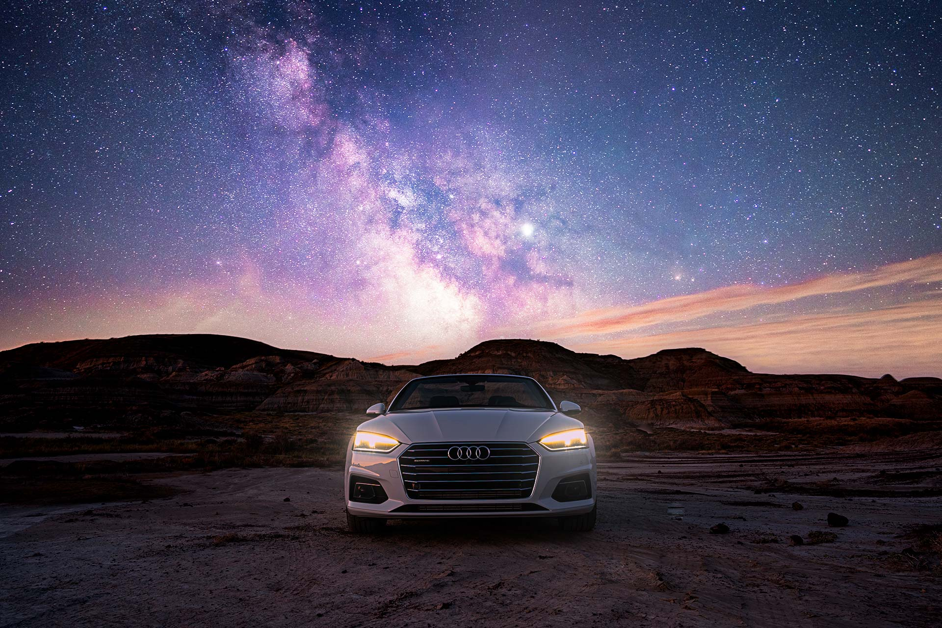 Audi A5 Milkyway Audi Canada Karl Lee Photography Automotive Photographer Alberta
