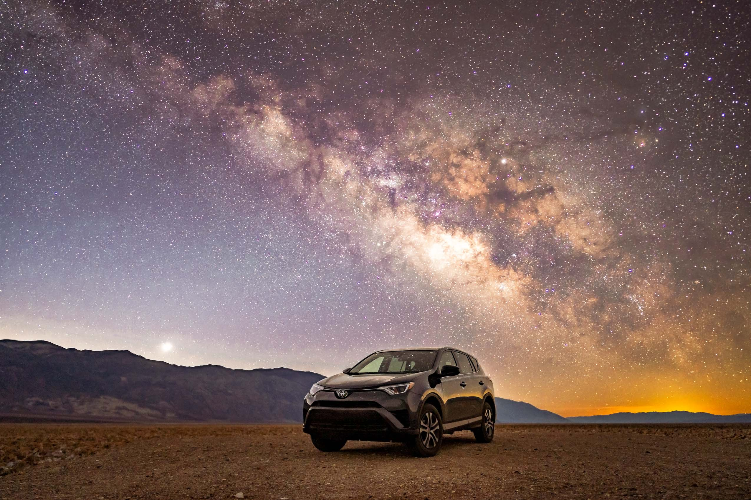 Toyota Rav4 Under Milkyway Death Valley California Karl Lee Photography Car Photographer