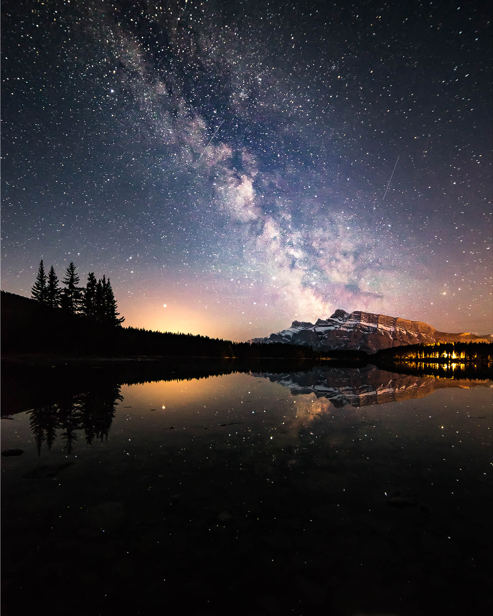 Two Jack Lake MilkyWay Banff National Park Astro Photographer