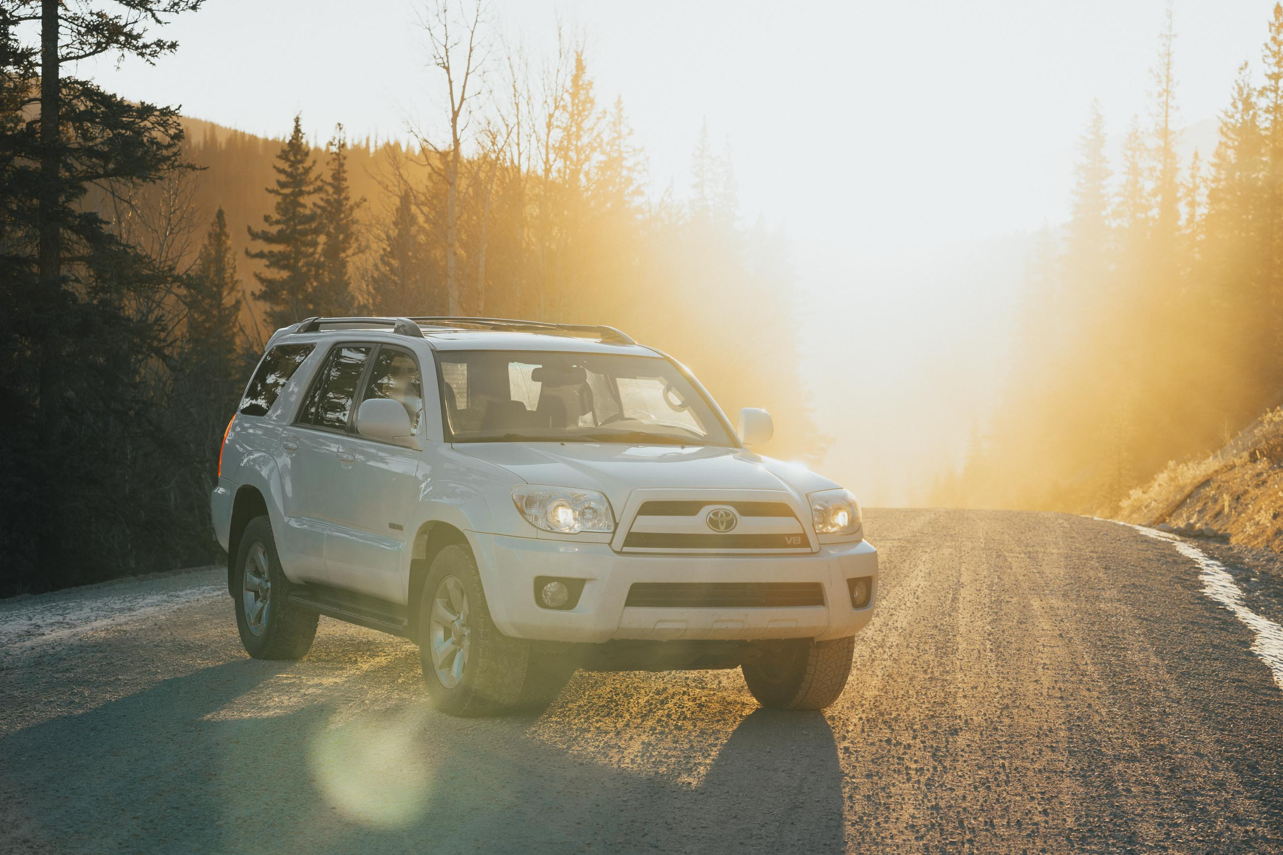 Toyota 4runner sunset Hinton Alberta Karl Lee Photography Car Photographer